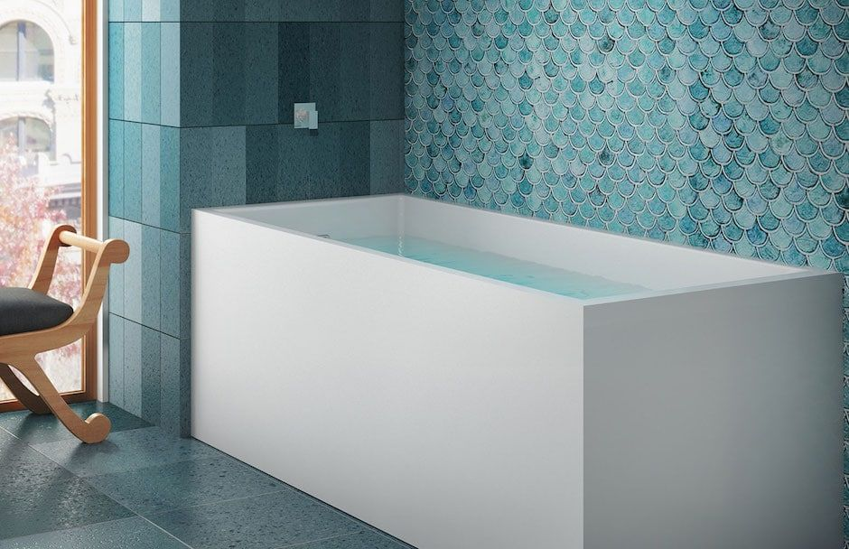 BainUltra Rectangular Deepsoak Bathtub from TAPS Bath Showrooms