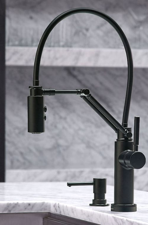 Brizo Kitchen Faucet Matte Black At TAPS Kitchen and Bath Showrooms