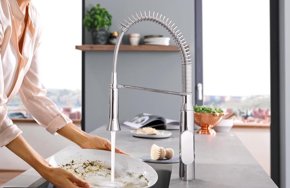 GROHE Faucet With Foot Control Function From TAPS Showrooms