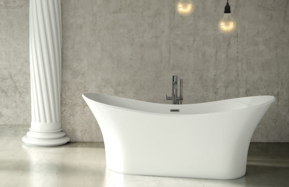 Mirolin Freestanding Curved Bathtub at TAPS Bath and Kitchen Showrooms