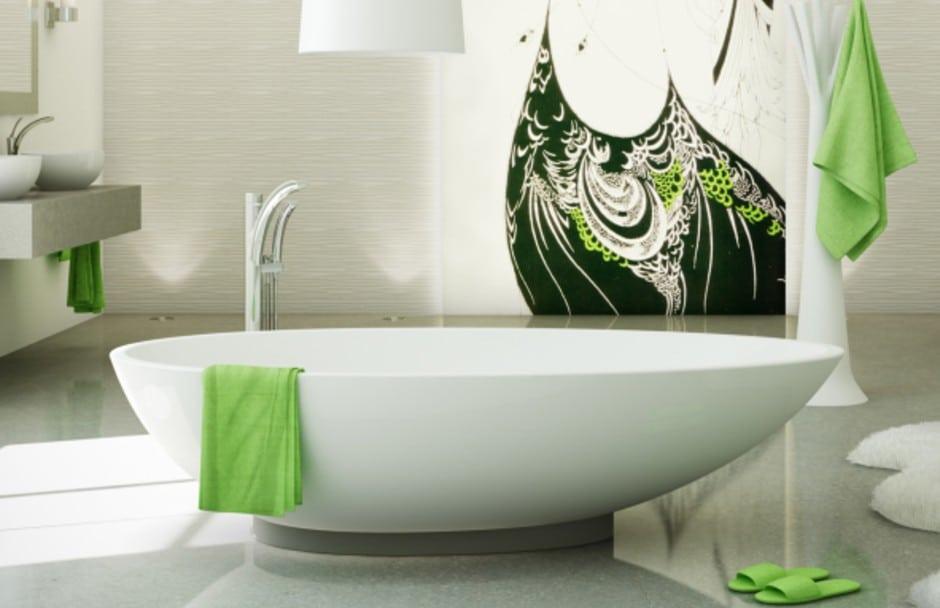 Riobel Green Bathtub at TAPS Bath and Kitchen Showrooms