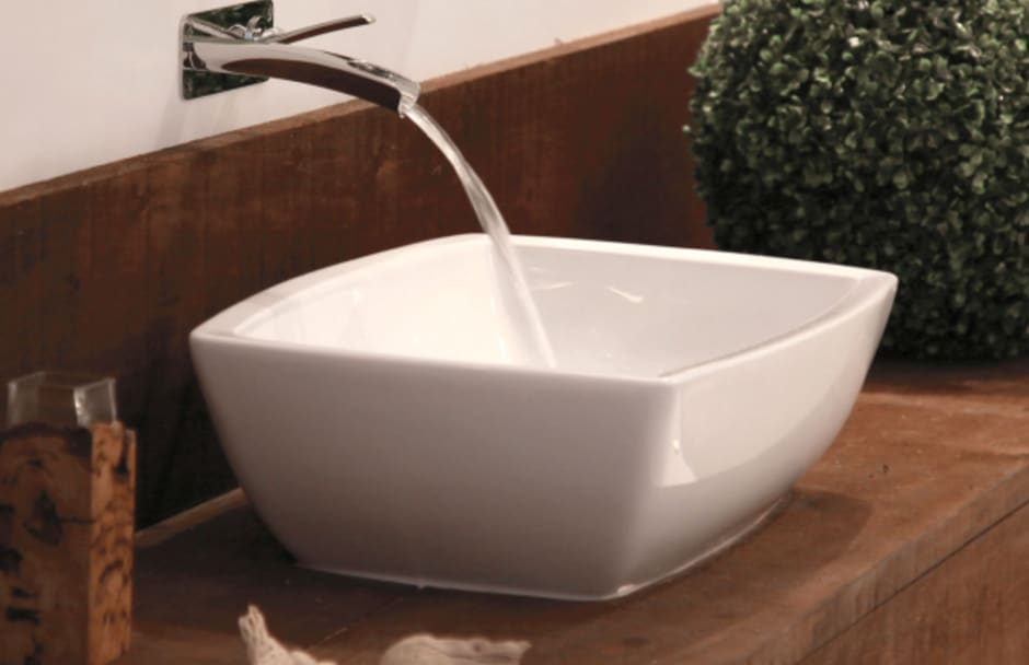 Riobel Wall Faucet and Sink From TAPS Bath and Kitchen Showrooms
