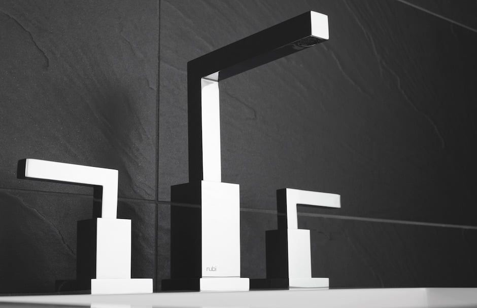 Rubi Faucet and Handles Rectangular Shape At TAPS Bath and Kitchen Showrooms