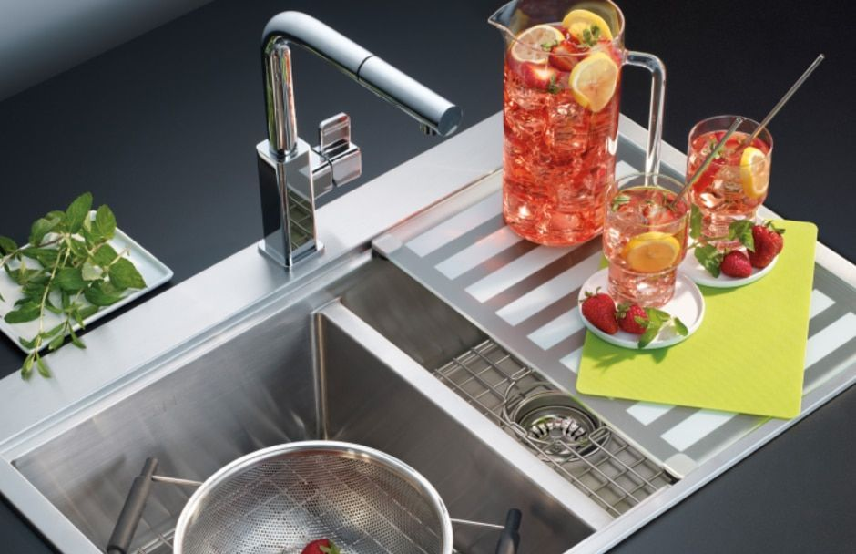 Franke Double Sink at TAPS Kitchen Bath Showrooms