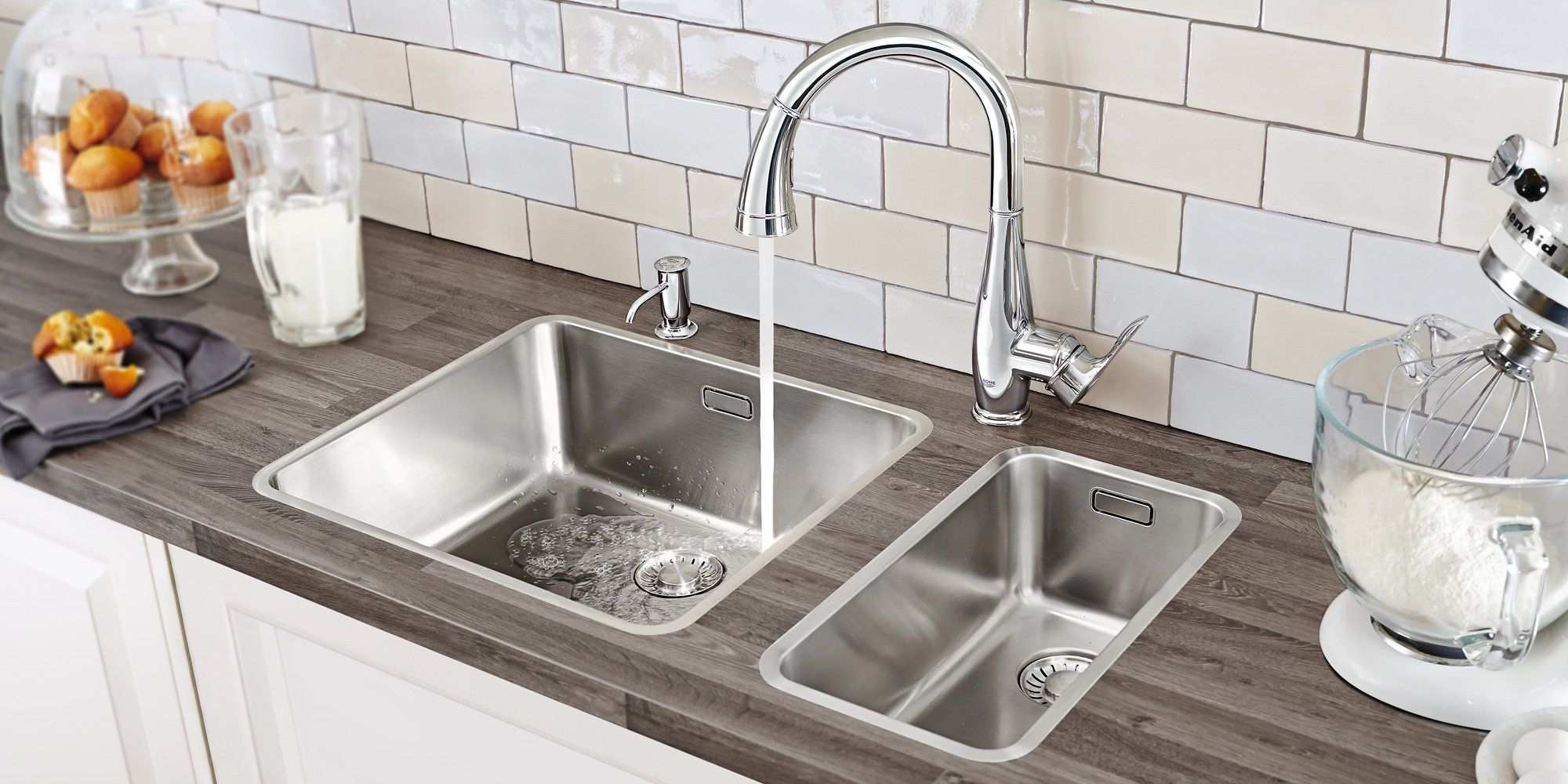 GROHE kitchen faucet at TAPS Kitchen and Bath Stores