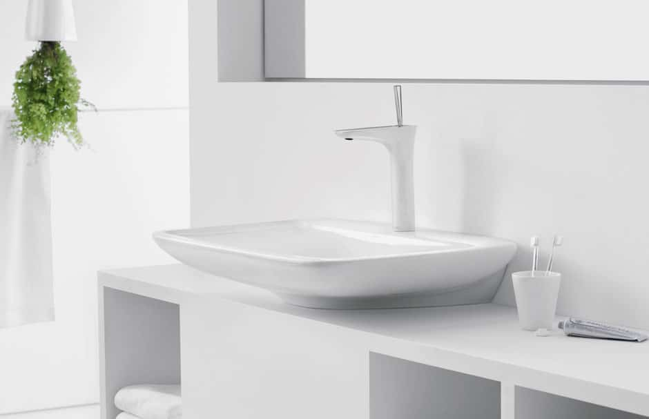 hansgrohe White Bathroom Sink With Faucet At TAPS Bath Showrooms