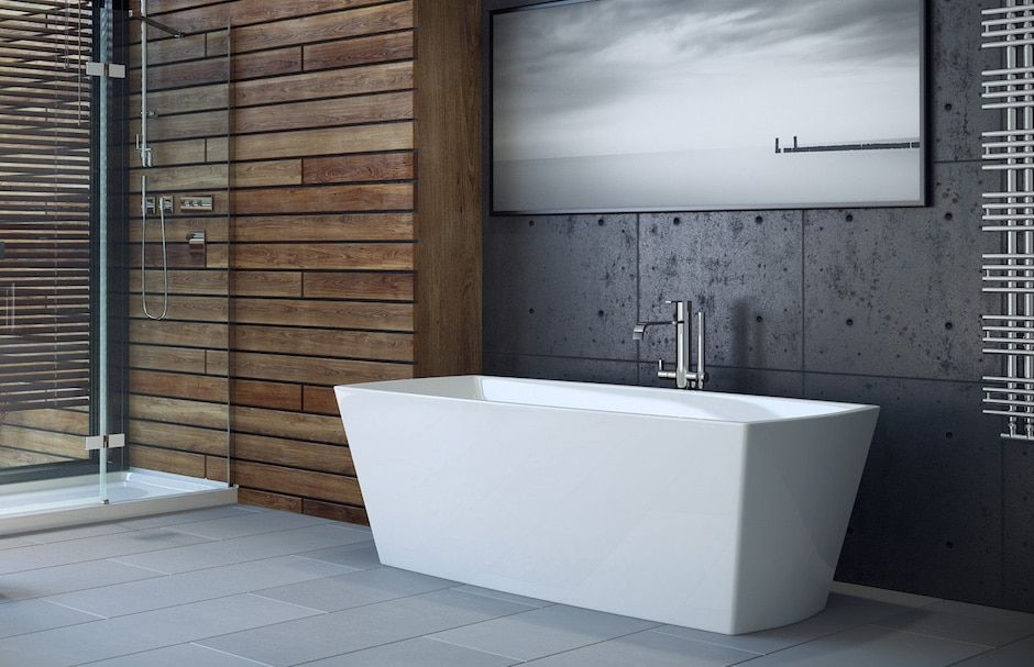 Mirolin Rectangular Freestanding Bathtub From TAPS Bath and Kitchen Showrooms