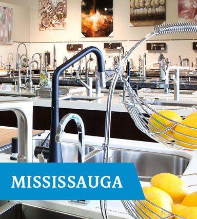 TAPS Mississauga kitchen faucet displays