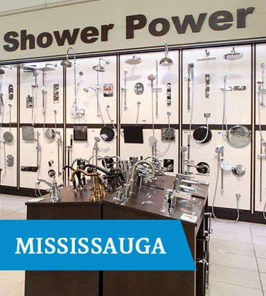 TAPS Mississauga featuring shower displays