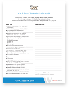 powderbath checklist