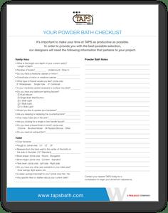 powderbath checklist