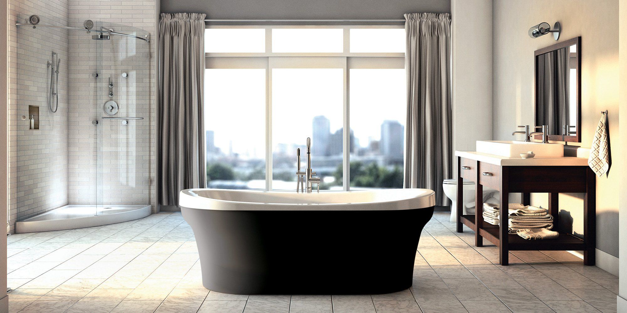 Produits Neptune ensuite with freestanding tub