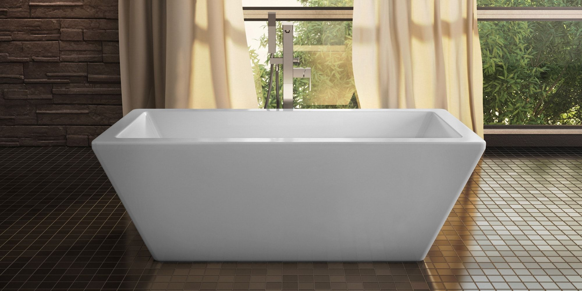 Produits Neptune Rectangular Freestanding Tub at TAPS Kitchen and Bath Showrooms