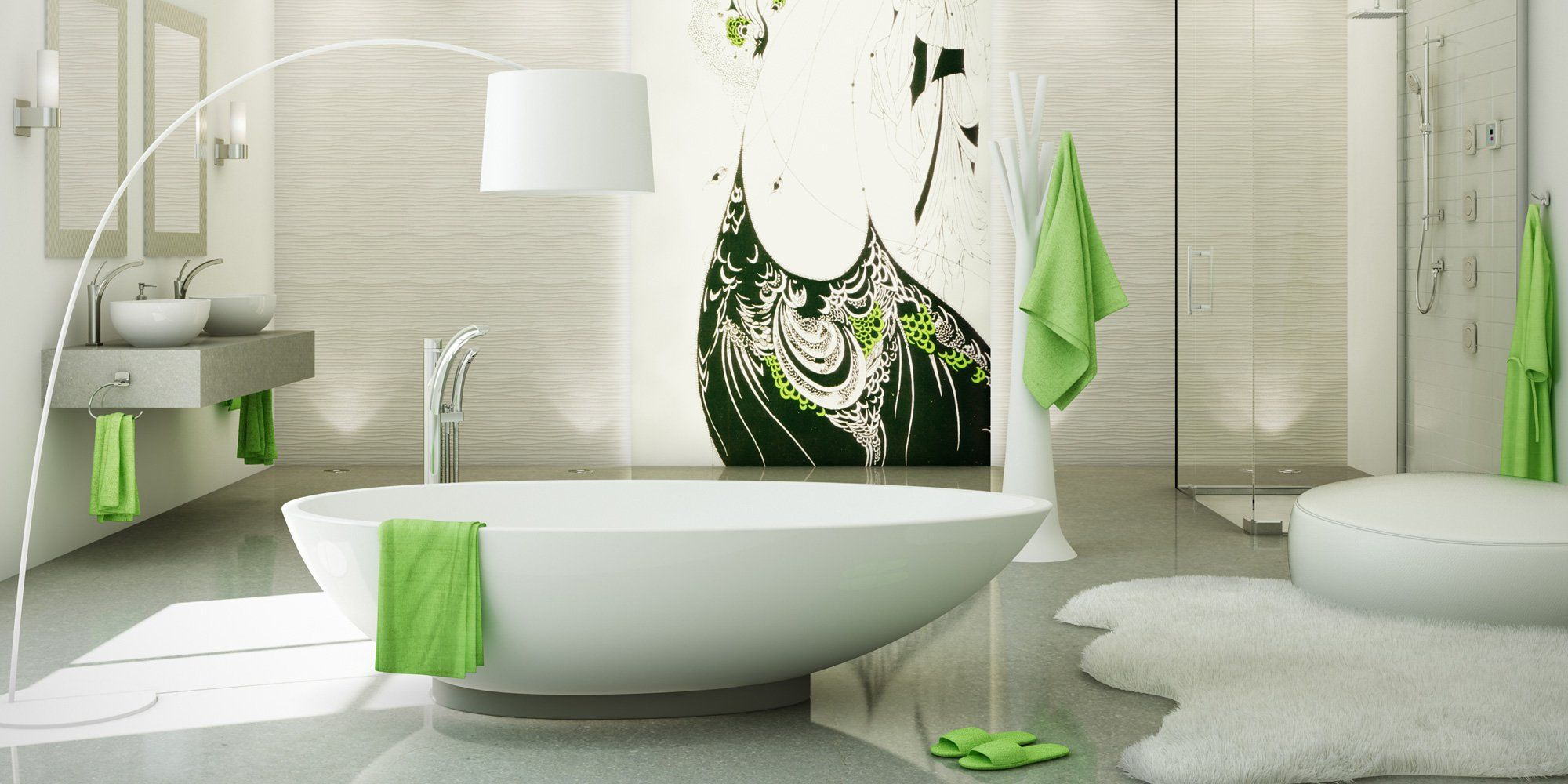Riobe bathroom with freestanding tub